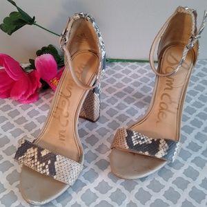 Sam Edelman snake skin heels size 6.5